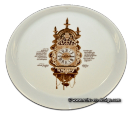 Mitterteich pastry plate. 'Clocks Dinnerware' by Nutroma