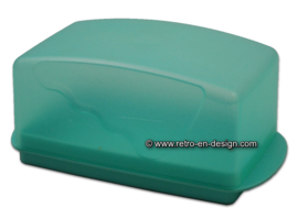 Tupperware Impressions butter dish, mint green