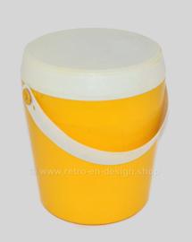 Tambor de almacenamiento de caja de costura FLAIR de plástico vintage para suministros de costura