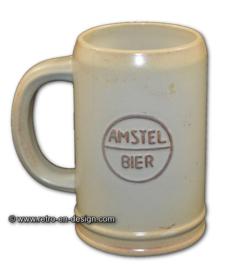 Amstel bier aardewerk bierpul uit de jaren '60