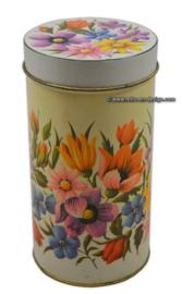 Vintage blik ARK bloemen beschuitbus