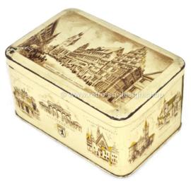 Boîte à biscuits vintage H.Bahlsens Keksfabrik KG Hanovre avec monuments allemands
