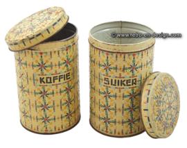 Brocante kralenbussen voor koffie en suiker
