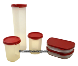 Vintage Tupperware opslagcontainers, ruimtemakers, opbergers, Modular Mates