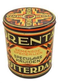 Vintage tin Orenta Esso Rotterdam, Art deco 1920 - 1935
