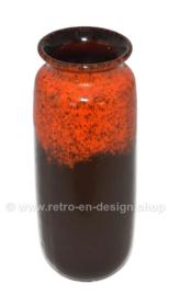 Vase vintage en poterie de l'Allemagne de l'Ouest par Scheurich modèle 206-27