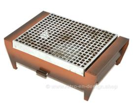 Plato calentador Brabantia vintage o rechaud, 1 quemador con portavelas, modelo Shadow-brown