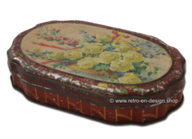 Vintage tin box for Van Houten Bonbons Fins