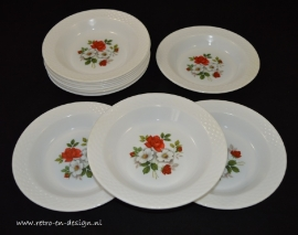 Arcopal France plate, wild roses