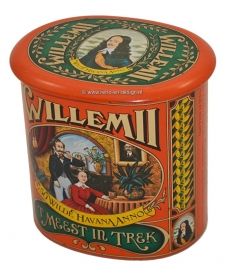Vintage tin for sigars by Willem 2