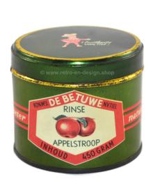 Vintage appelstroopblik Kon. Mij de Betuwe n.v. Tiel