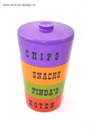Stackable 70's snack tray