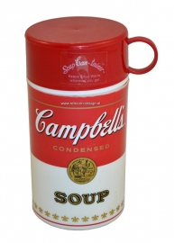 Vintage 1998 Campbells Soup Can-tainer. Thermos container.