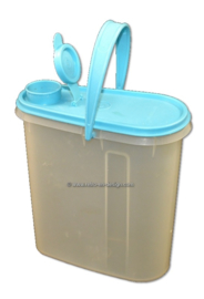 Vintage Tupperware jug/pitcher or storage container, blue cover with spout