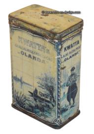 Vintage tin Kwatta's gealcaliniseerde Cacao Olanda