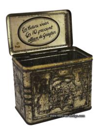 Vintage brocant blik De Gruijter