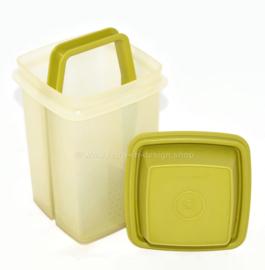 Tupperware Gurkenlift Pikantus Behälter in transparentem Weiß mit grünem Deckel