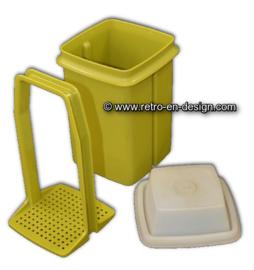 Tupperware Gurkenlift Pikantus Behälter in grün mit weißer Deckel