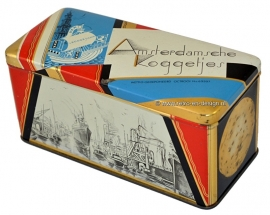 Vintage cookie tin Amsterdamsche koggetjes