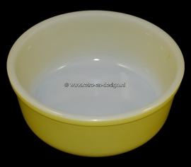 Arcopal France Opaline serving bowl or dish in yellow glass