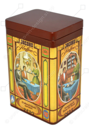 Vintage Jacobs Kaffee coffee tin with nostalgic images