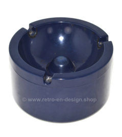 Retro dark blue melamine ashtray from Rösti Mepal