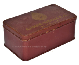 Tin box for sewing machine parts from Anker