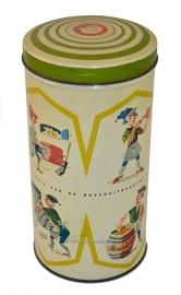 Vintage/antiquo Hille lata de galletas