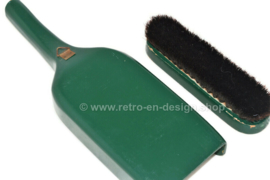 Vintage wooden broom and dustpan from the 1970s