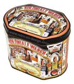 "Lata vintage ovalada fabricada por Knorr, ""Met Knorr krijg je de smaak te pakken"""