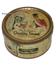 Old candy tin from Mackintosh's Quality Street, 1940/1959