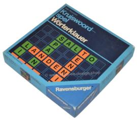 Vintage Kruiswoordspel van Ravensburger uit 1975