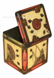 Vintage cube en étain par NIEMEIJER pour thé Pecco