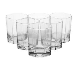 Vaso de jugo vintage de Arcoroc France, Luminarc Octime-Clear.