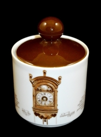 Mitterteich Sugar Bowl. 'Clocks Dinnerware' by Nutroma