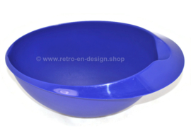 Vintage Tupperware Quick mix beslagkom in blauw