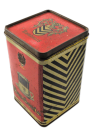 Vintage Rombouts coffee tin, red and black/white