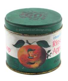Vintage boîte étain de sirop de pomme par Solberg-Diederen