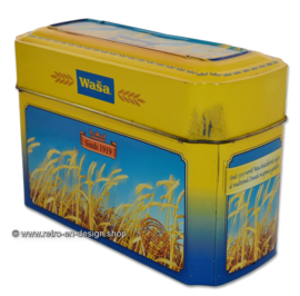 Vintage tin for Wasa Crackers with an image of ripe grain