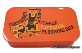 Vintage Brabantia cleaning box in orange
