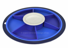 Tupperware Preludio collection service centre with six compartments, blue
