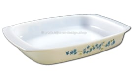 Arcopal France ovenschaal met decor Veronica, Myosotis