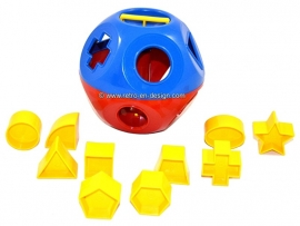 Tupperware Kinder Puzzleball. Tupper Toys Kombi Steck-Ball in rot blau gelb