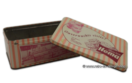 Retro pink tin box for biscuits, HEMA