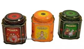Vintage set Pickwick tea cans by Douwe Egberts