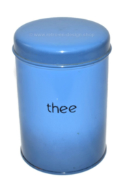 Vintage Brabantia tea tin in blue