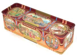 Lata vintage para pan de jengibre hecha por Klinkhamer, Groningen, con imágenes nostálgicas
