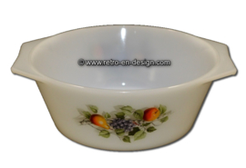 Arcopal baking dish, casserole. Fruits de France Ø 14 cm