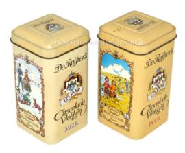 Vintage blikjes 125 jaar De Ruijter's Chocolade Vlokken Melk en Puur 1974