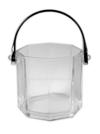 Ice bucket for ice cubes by Arcoroc France, Octime Clear.
